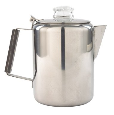 Rapid Brew Stainless Steel Stovetop Coffee Percolator, 2-9 cup