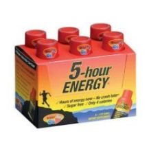5 Hour Energy Original Berry Shot, 2 Ounce - 12 per pack -- 18 packs per case.