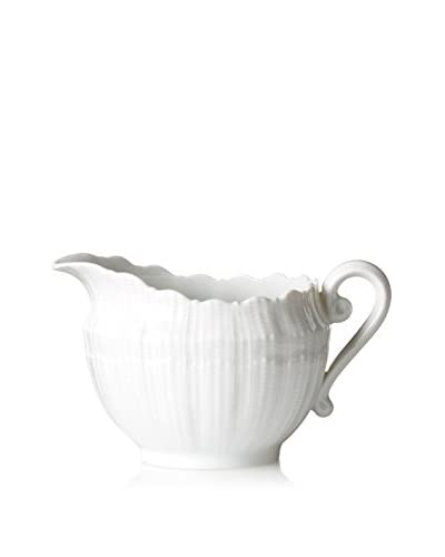 Giraud Limoges Found Scalloped Shell Creamer, White