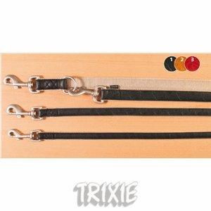 Trixie-Line-Guinzaglio per cani in pelle, colore: rosso