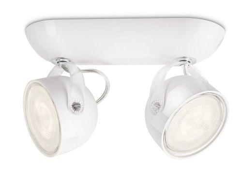 Philips 532323116 Dyna Lampada con 2 Faretti a LED, Bianco