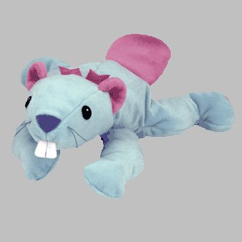 TY Pillow Pal - CHEWY the Beaver (Blue Version) - 1