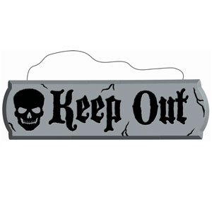 Keep Out Hanging Styrofoam Sign- 17in - 1