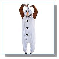 Disney Frozen Olaf Character -Adult Costumes Pajama Onesies ( Medium)