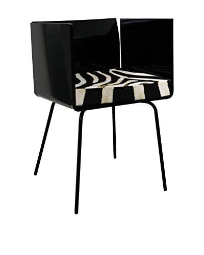ACRILA Cali Arm Chair with Cushion, Black