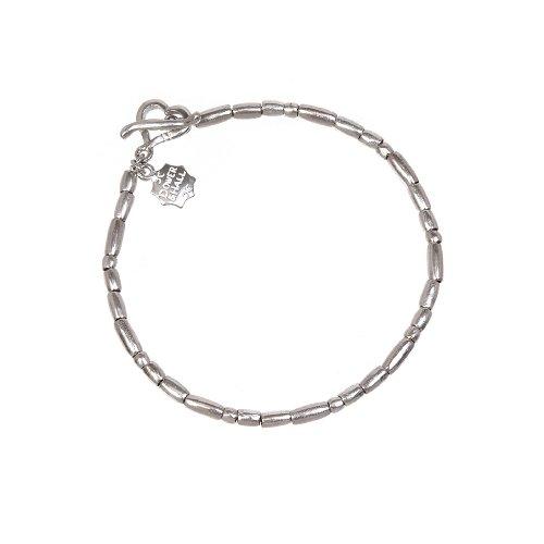 Dower  &  Hall, Nomad - Solid Sterling Silver Cylinder Bead Bracelet