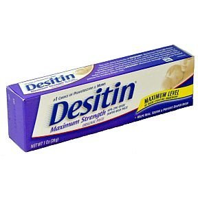 Desitin Maximum Strength Diaper Rash Paste, 1 Ounce (Box Of 6)