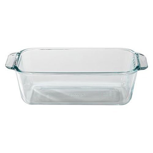 Basics 1.5-Quart Loaf Pan, Glass-Pyrex-1105394