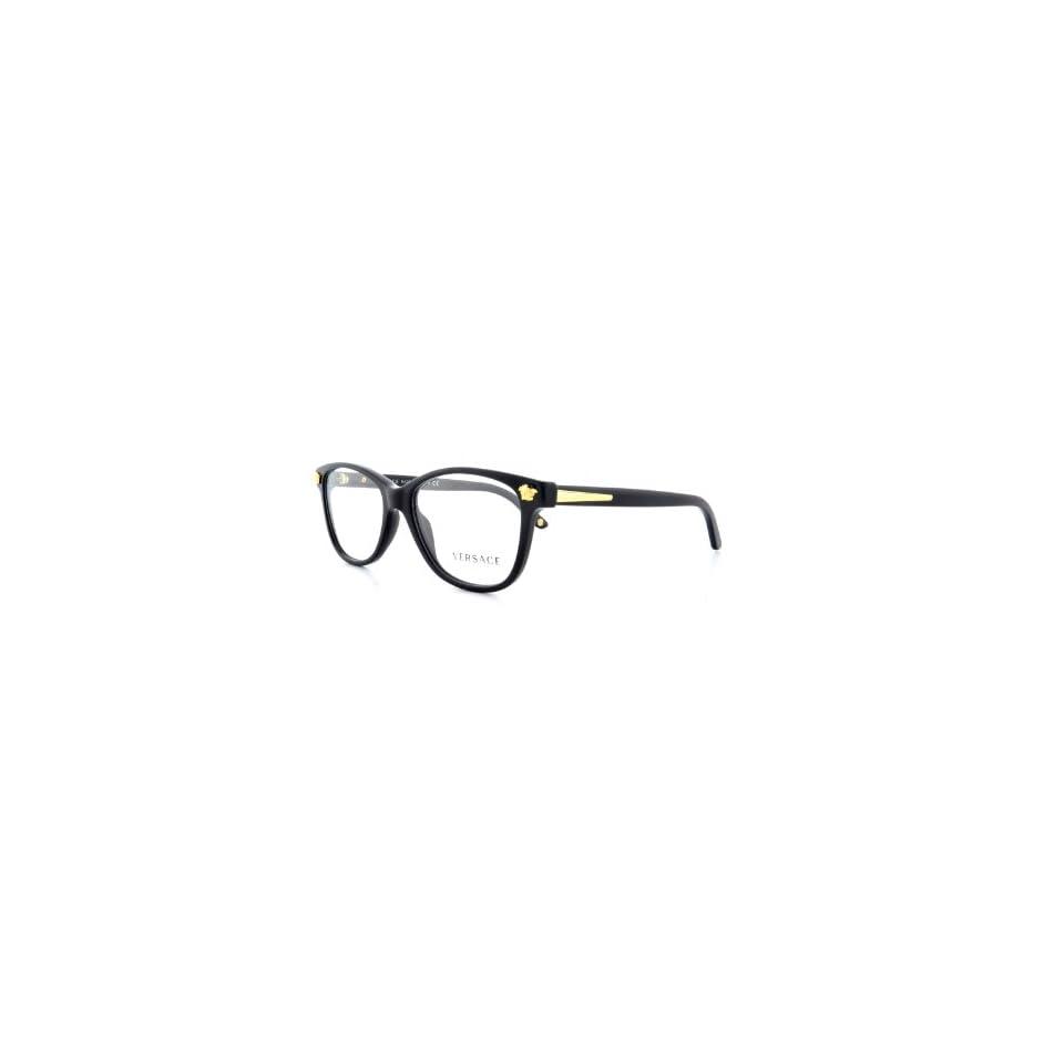 74b201020847 VERSACE Eyeglasses VE 3153 945 Shiny Black 53MM on PopScreen