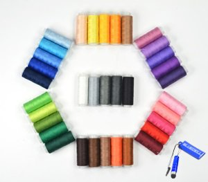 Great Deal! Bluecell 35 Assorted Color 200 Yards Per Unit Polyester Sewing Thread Spool Set + Bluece...