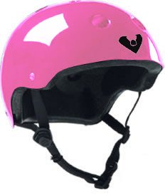 Viking Adjustable Size Bike & Skateboard Helmet (Pink) (One Size Fits All Adjustable)