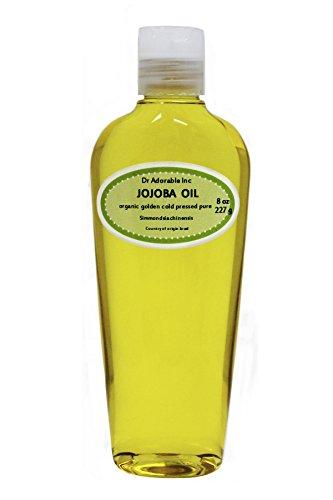 Jojoba Oil Golden Organic 100% Pure By Dr.Adorable 8 oz