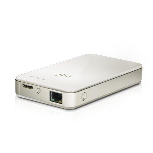PQI Air Bank ワイヤレスAP&ポータブルHDD 500GB ホワイト