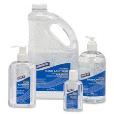 Hand Gel Sanitizer, Pump Bottle, 64 oz, Clear