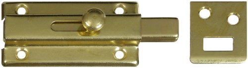 "National Hardware V860 3"" Slide Bolt In Brass front-453938"