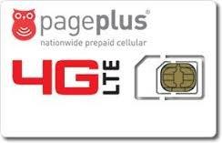 Page Plus 4G LTE Dual Cut Micro/Standard Sim + $29.95 Plan Fits Verizon Galaxy S3/S4/S5/ Note 2/3/4