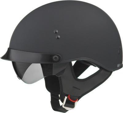 G-Max Gm65 Solid Full Dressed Helmet , Distinct Name: Flat Black, Gender: Mens/Unisex, Helmet Category: Street, Helmet Type: Half Helmets, Primary Color: Black, Size: Xs G9650073