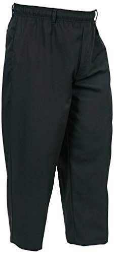 Mercer Culinary M60050BKM Millennia Unisex Cook Pants, Medium, Black (Happy Chef Cap compare prices)