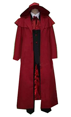Relaxcos Hellsing Alucard Red Long Coat Cosplay Costume-made