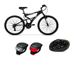 Bundle of 3: 26 Hyper Havoc Full Suspension Mens Mountain Bike, Cycle Force Adult... by Hyper