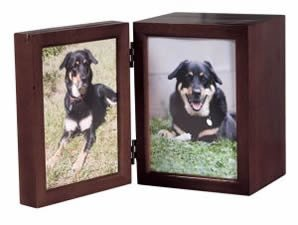 Classic Products Keepsake Pet Memorial Display, Medium Folding 6″ x 8″, Mahogany