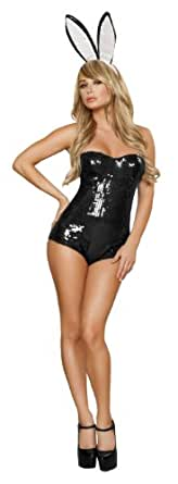 Roma Costume 2 Piece Ravishing Rabbit Costume, Black/White
