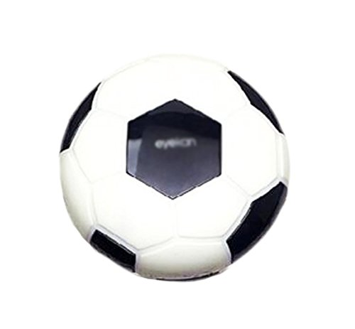 Creative Soccer Contact Lens Cases For Men Or Women-Black (Cheap Colored Contact Lenses compare prices)