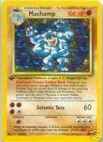 Machamp 8/102 1st Holo Foil Basic Pokemon - 1