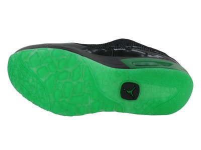 Nike Nike Kids's NIKE JORDAN CMFT VIZ AIR 13 (GS) BASKETBALL SHOES 4 (BLACK/APPLE GREEN WHITE)