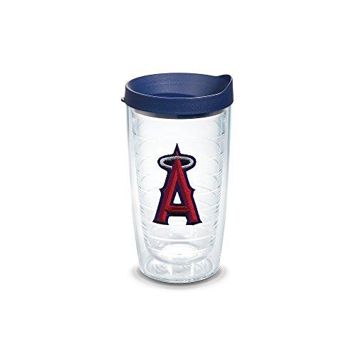 """Tervis 1038931 """"MLB La Angels"""" Tumbler with Navy Lid, Emblem, 16 oz, Clear"""