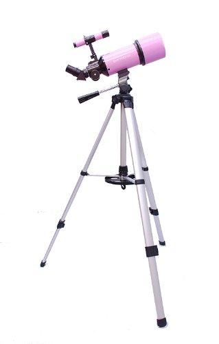 Pink Twinstar Astromark 80Mm Dual Tripod Refractor Telescope