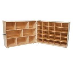 Tray and Shelf Single Folding Storage Unit Bins: Clear Bins, Color: Blueberry