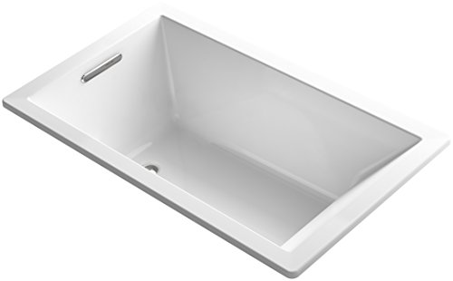 KOHLER K-1848-0 Underscore 60-Inch x 36-Inch Drop-In Bath with Reversible Drain, White (Bath Tub 60 X 36 compare prices)