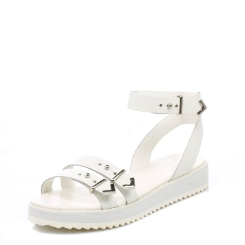 Shellys Donna bianco Portneuf sandali-UK 6