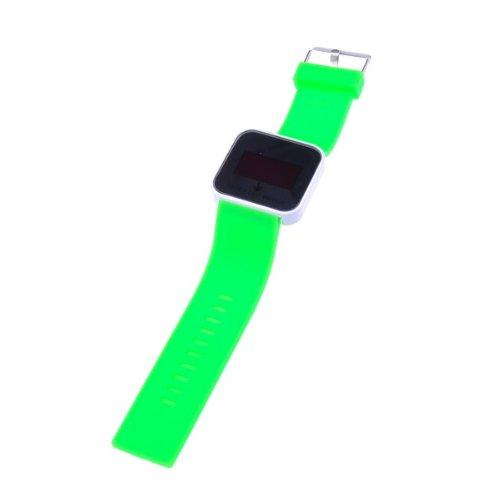 Bestdealusa Green Watchband Fashion Sports Touch Screen Led Digital Wrist Watch