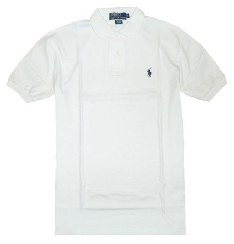 Polo Ralph Lauren Men Classic Fit Pony Logo T-shirt (X-Large, White)