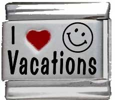 I Heart Vacations Red Heart Laser Italian Charm