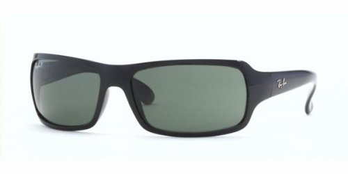 Ray-Ban RB 4075 (601/58) BLACK w/ CRYSTAL GREEN POLARIZED lens 61mm 16mm