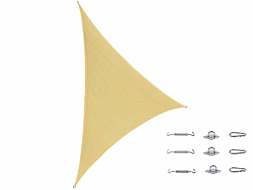 "Cool Area Right Triangle Oversized 16'5"" X 16'5"" X 22'11"" Sun Shade Sail Cost-effective 5m X 5m X 7m Patio UV Block Shade Including Stainless steel Hardware Kit For Outdoor Patio Garden Swimming Pool"