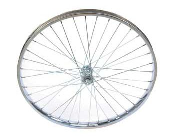 Bike | Bicycle 24″ x 2.125″ Steel Coaster Wheel 105g Chrome