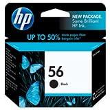 HP 56 Deskjet Ink Cartridge, 520 Page Yield, Black