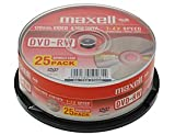 Maxell DVD-RW 4.7Gb 2x Spindle 25 rewritable dvd 25 pack dvd rw blank dvd