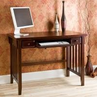 Buy Low Price Comfortable Espresso Computer Desk with Pullout Drawers (B001HJC20O)