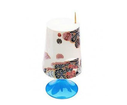 niceeshop(TM) Automatic Table Lamp Style Toothpick Holder Creative Toothpick Box-Blue and White