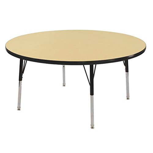 Ecr4kids t mold 48 round activity school table standard legs w swivel glides adjustable - Table glides for legs ...