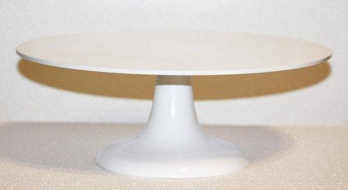 Superbe White Pedestal Cake Stand 14 Inch Round Wedding Cake Stand