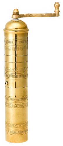 """Pepper Mill Imports Traditional Coffee/Spice Mill, Brass, 11"""""""