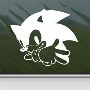 Sonic white sticker decal ssmb brawl skin wii white car window wall macbook notebook - Sonic wall decals ...