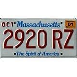 Massachusetts Spirit of America License Plate
