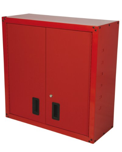 Hilka Heavy Duty Red Garage Wall Unit WC2D Wall Cabinet, Pro-Craft Wall storage
